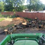 Two deliveries of wood chips and one delivery of very large logs
