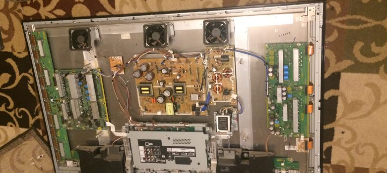Panasonic Plasma TV TH-PZ800U Faced Down Back Panel Off