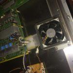 Panasonic Plasma TV TH-PZ800U Close Up of Fan