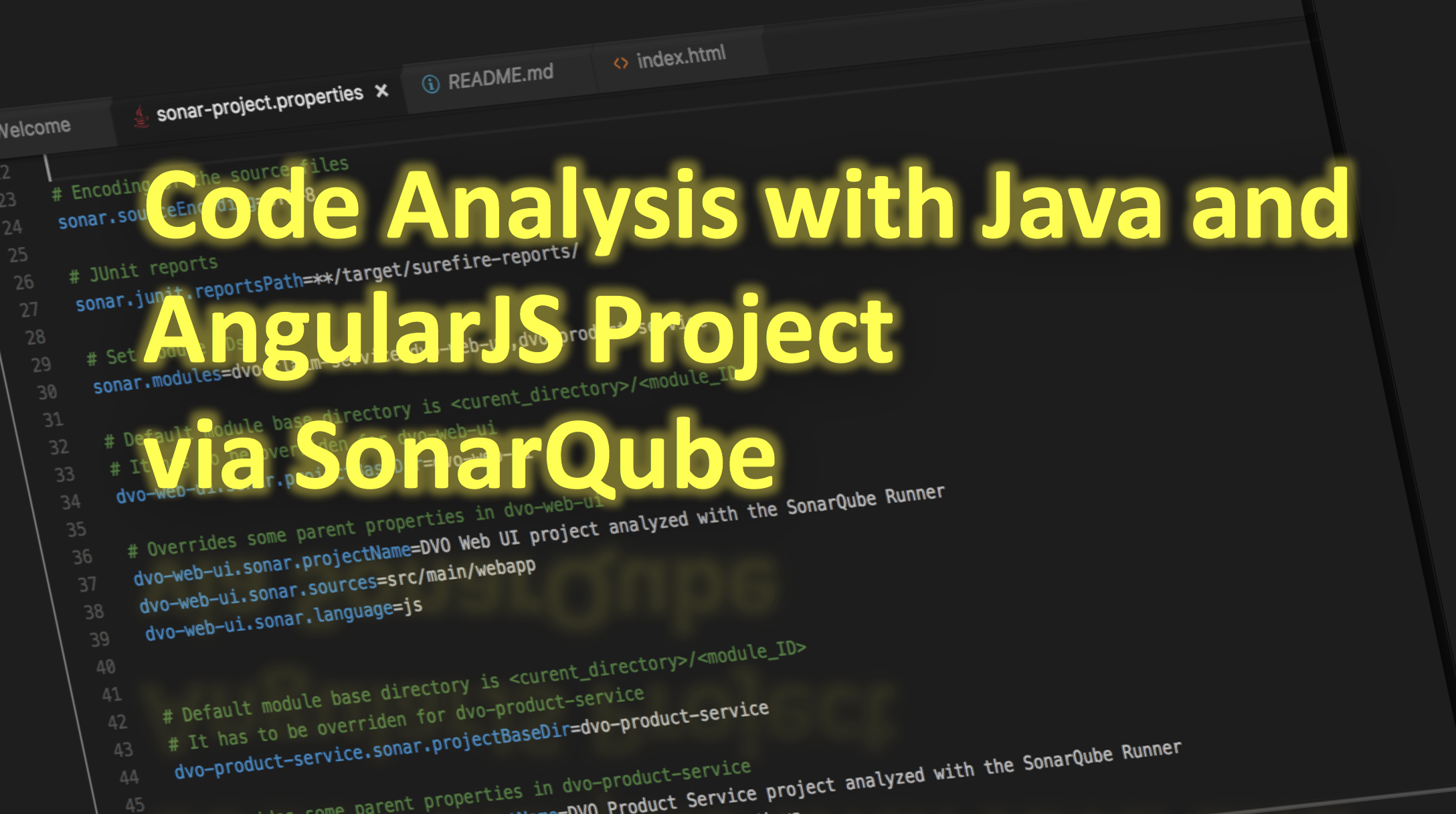 Code Analysis with Java and AngularJS Project via SonarQube