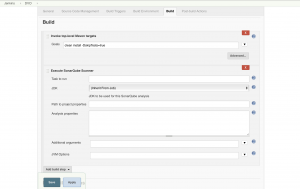 Configure Jenkins Project to do a build and to use the SonarQube Scanner