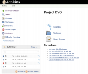 Jenkins Project with SonarQube link