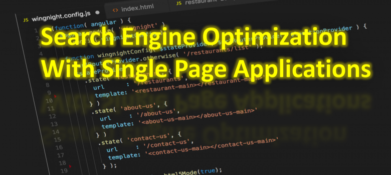 Search engine optimization with single page applications
